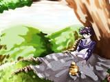 木漏れ日と猫