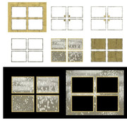MMD素材 四コマ漫画の枠xファイル