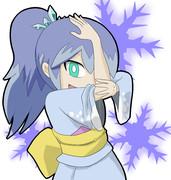 ふぶき姫をジョジョ立ちで描いてみた
