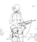 銃をもつ少女