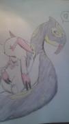 【ポケモン】ザングースとハブネーク【描いてみた】