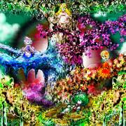 七色の緑と花の最期