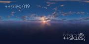 ++skies; 019 [16k8k/8k4kスカイドーム素材配布]