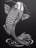 【切り絵】鯉