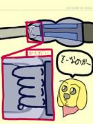 前回描いた千佳ちゃんのサイコガンの中はどうなっているのかの図解