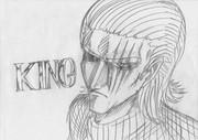 2B鉛筆で、キングさん描いてみた
