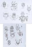 記憶で描いた仮面ライダーたち