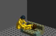 LEGOと化した先輩
