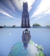湖に立つ塔