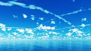 【MMDステージ配布】青空と飛行機雲 S3【スカイドーム】