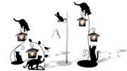 猫の照明4種