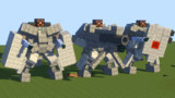【Minecraft】汎用2足歩行ロボ