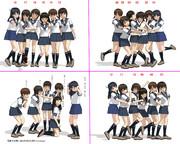 【MMD】女の子グループの撮影ポーズ