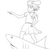 エイプリルフールなのでてゐちゃん描いた。