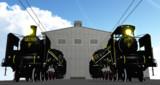 蒸気機関車C57動態保存コンビ、MMDエンジン搭載版配布