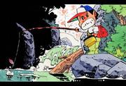 漫画:渓流釣り
