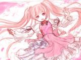 桜ミク(落書き)