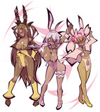 春っぽいポケモン擬人化×3