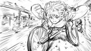 車椅子に乗って人里ではしゃぐわかさぎ姫