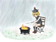 マシュマロを焼くルナサ