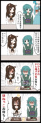 【四コマ】かげわか、仲良しランチ!!