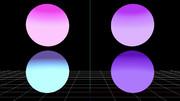 【MMDステージ配布】紫系グラデーション X6【スカイドーム】