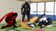 ニンジャスレイヤーフロムアニメイシヨン第一話視聴終了よりコンマ3秒!「「イヤーッ!」」