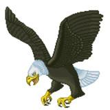 ドット絵 鷲