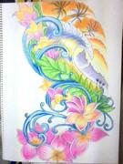 タトゥー模写 ハワイアン