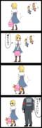 【四コマ】不審者だよ!アリスさん!!