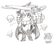 「ヲ級 (アサルトパック装備型) 」