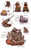 らくがき戦車たち。