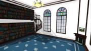 【MMD-OMF5】図書室ステージ