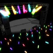 【MMD-OMF5】ライブハウスっぽいステージ