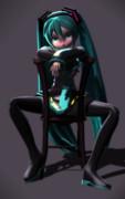 ミクさんと椅子