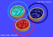 【仮面ライダーOOO】ポセイドンのメダル