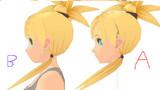 【MMD】リナの顔作り直しー