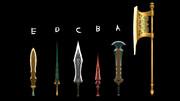 宝剣5種と斧