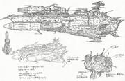 特一等級航宙戦闘母艦-デウスーラ・ガミラシア(デスラー戦闘空母2199化計画)