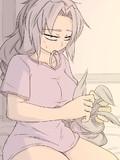 髪を編むえーりん