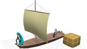 【MMDモデル配布】木製ヨット【ジャック・スパロウも乗ってた感じの】