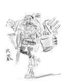 武蔵の落描き