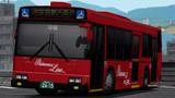 京都の真っ赤なバス。