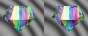 立体視画像36「レインボーダイヤ」