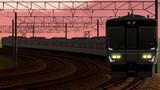朝の回送列車。