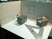提督室 製作開始【インテリア模型】