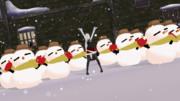 雪だるま作った(事後)