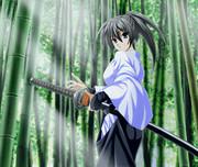 竹林の女剣士