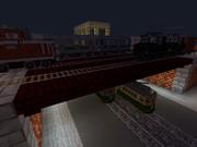 市電との交差