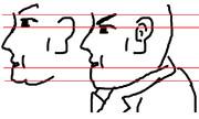 鼻・唇の線が一緒だけど、顔のパーツの位置を矯正して端整に